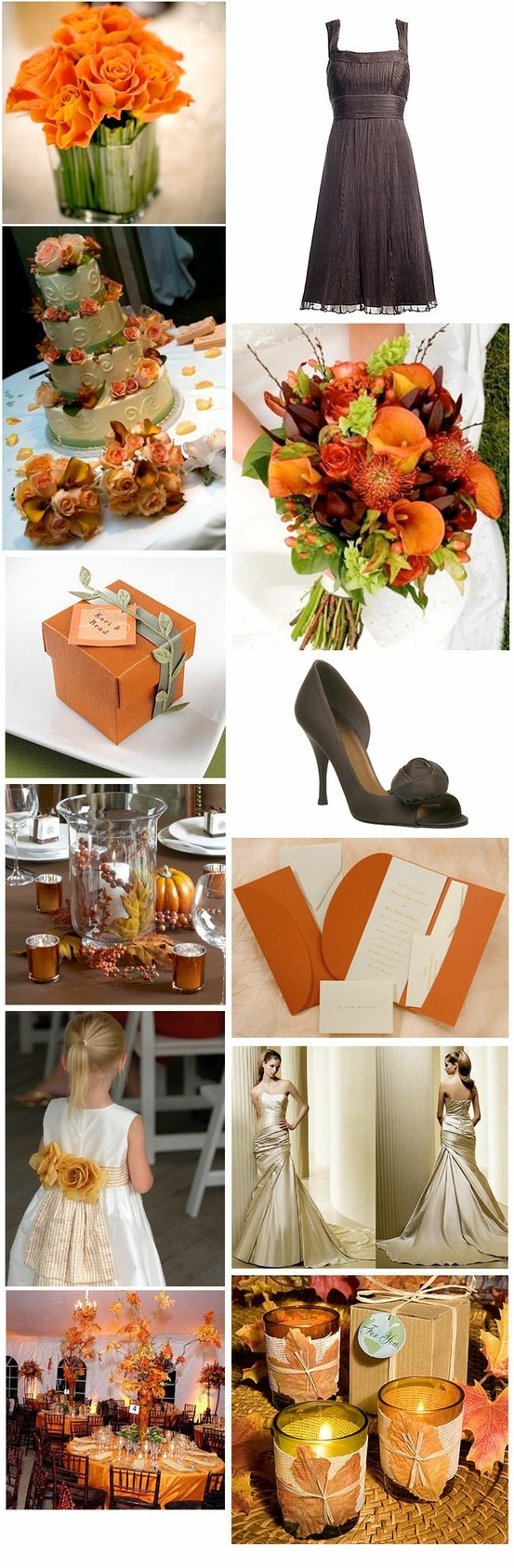 Fall Wedding, I love these colors! and a wedding in the fall might not be too bad...not too hot or cold and beautiful scenery outside...hmmmm