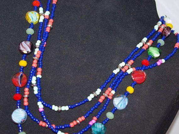 Colorful Necklace Bead Necklace Bohemian Necklace Unique