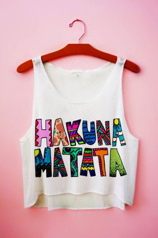 Crop Top - Hakuna Matata 2, Tecido Flamê - Cam Shirts