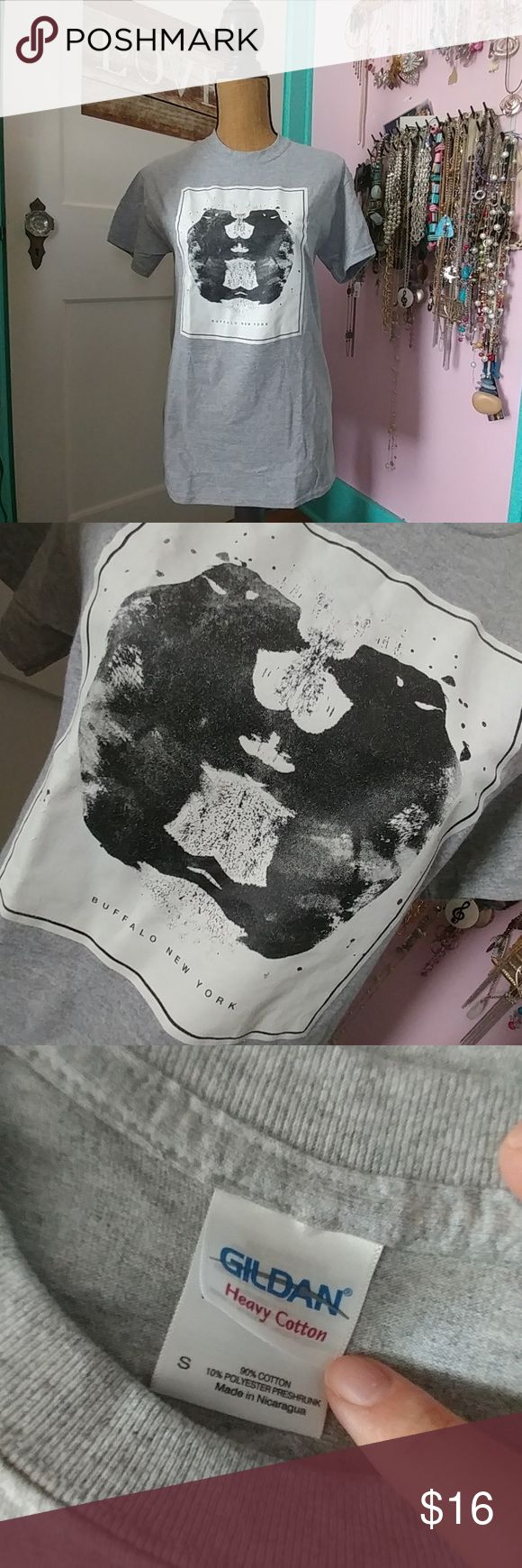 Selling this BNWOT Buffalo NY Ink blot tee on Poshmark! My username is: alibanana. #shopmycloset #poshmark #fashion #shopping #style #forsale #Gildan #Tops