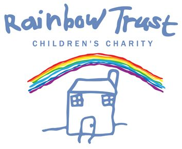 The logo for the Rainbow Trust charity is similar to the Great Ormond Street hospital one because they both looks like they were drawn by children which is effective because those are exactly who they are trying to help.