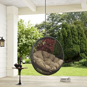 Modway Furniture Hide Outdoor Patio Swing Chair Without Stand In Gray Mocha