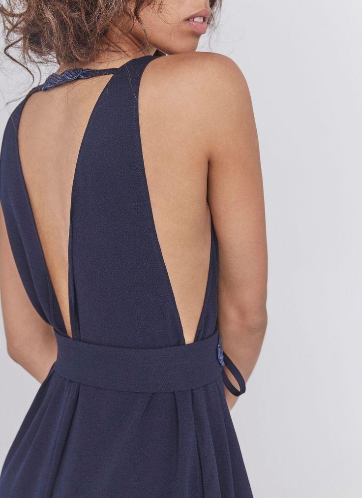 Vestido largo con espalada al aire - Vestidos | Adolfo Dominguez shop online