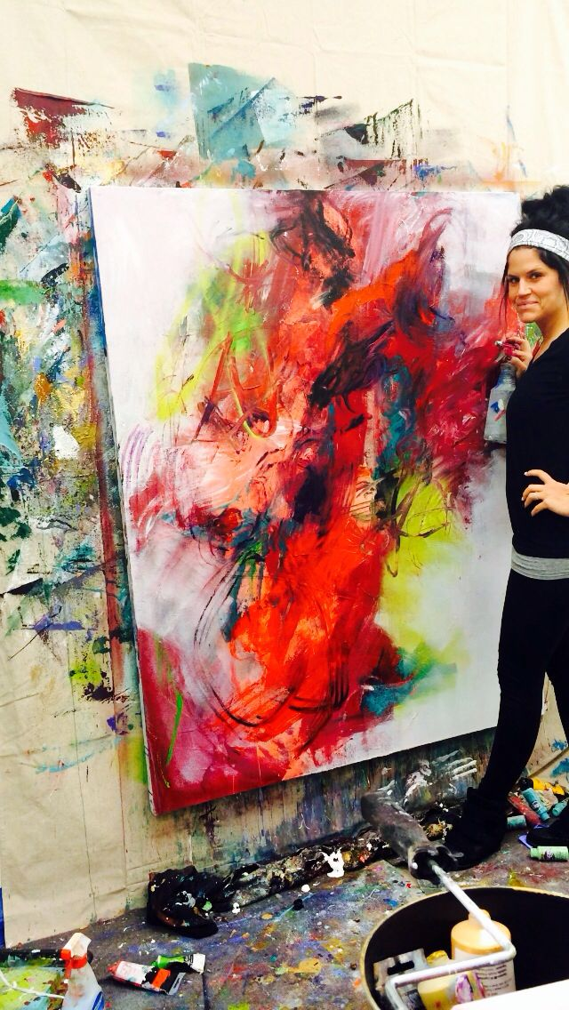 Brittany Lee Howard working in Baton Rouge Art Studio WHFA #painting #abstract…