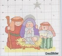 Punto de Cruz GRATIS: Navidad