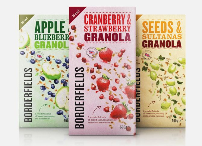Borderfields Granola Packaging - Georgina Luck