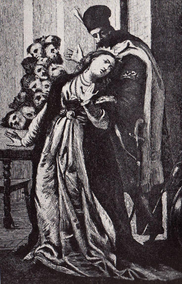 Lăpuşneanu arătând soţiei sale capetele boierilor