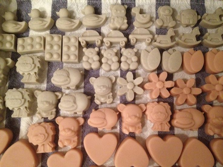 All Natural, Handmade Baby Shower Soap Favors Laid Out To Cure. All Natural  Soap