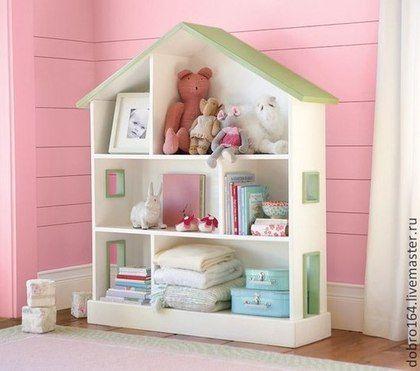 Dollhouse / Кукольный дом ручной работы. Ярмарка Мастеров - ручная работа. Купить КУКОЛЬНЫЙ ДОМИК. Handmade. Разноцветный, лдсп мдф не фанера