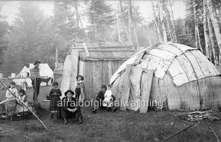 "Photo 1914 Saint Ignace, Michigan ""Native American Indian Village"""