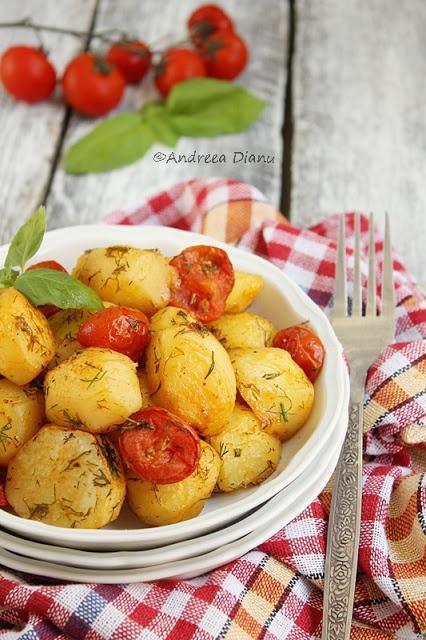 Cartofi noi la cuptor   Pasiune pentru bucatarie