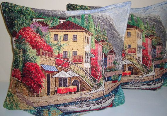 Set of 2  Gobelin  Pillow for Home Decor. by BOHEMIANPILLOW, $140.00