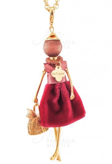 LeCarose Collana Donna Pink Mood Toco D'Encanto Animali Jewels Design Collana le Carose Carosa Cat Gatto Le Originali Carosa&cat Regalo Collana carosa gatto