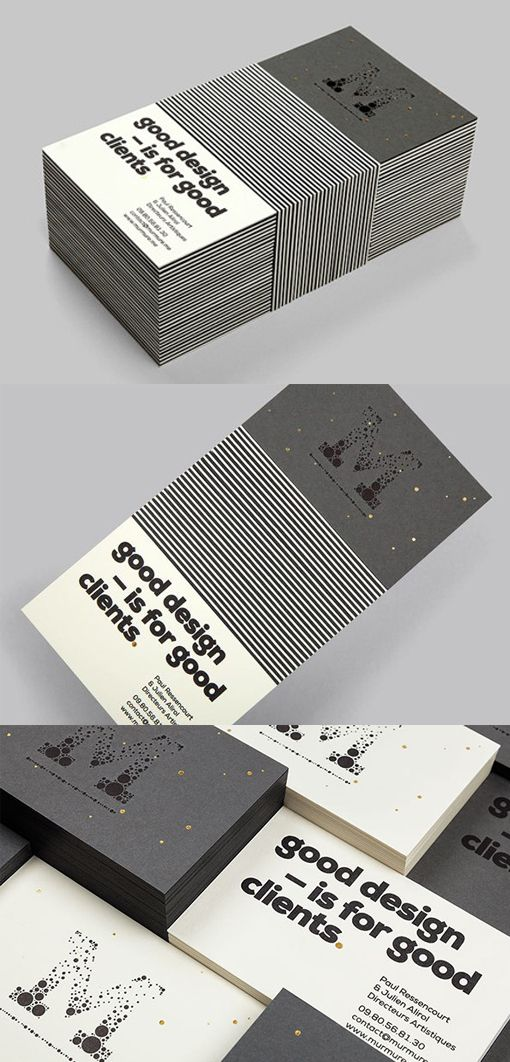 Black And White Business Card For A Design Company