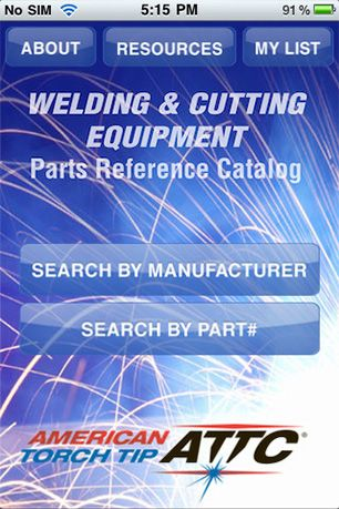 welding and cutting equipement parts reference catalogue