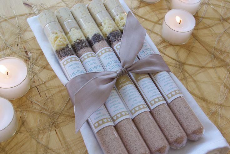 Gastgeschenke Hochzeit selber machen Reagenzglas Kaffee Mix Anleitung ...