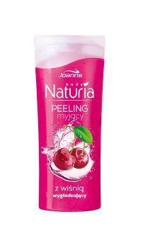Peeling myjący do ciała z wiśnią Naturia body. Skóra jest odświeżona i oczyszczona, gładka i miła w dotyku oraz przyjemnie pachnąca.