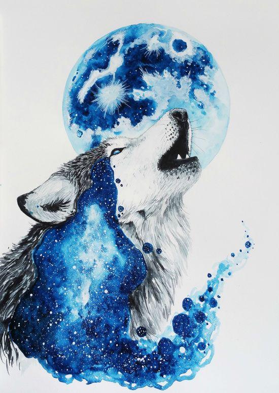 "bestof-society6: "" ART PRINTS BY JONNA LAMMINAHO • Wolf love • Howl • Polar…"