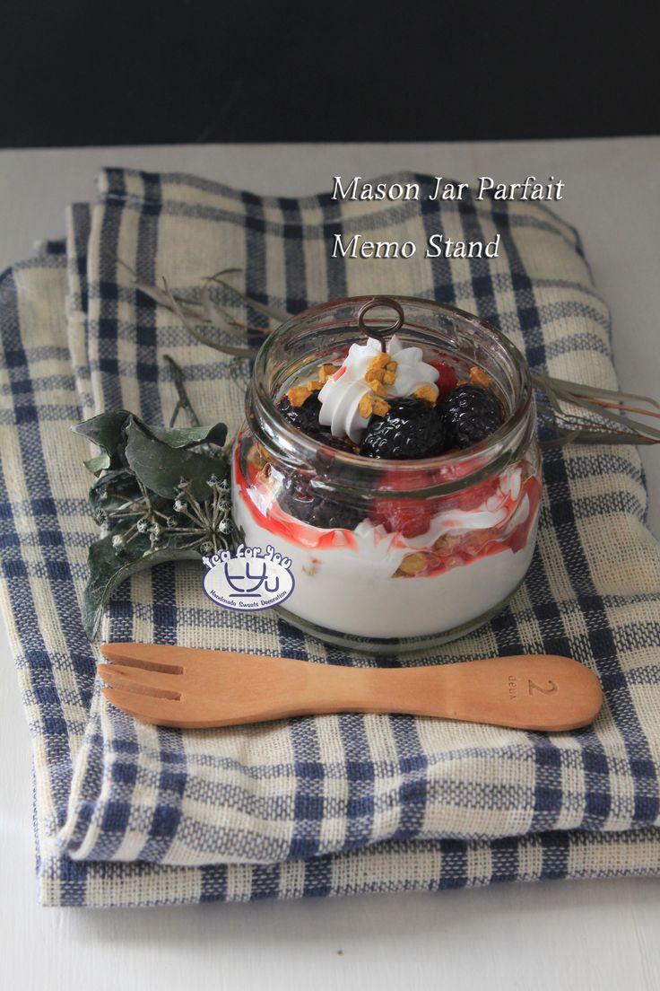 Instagram teaforyout #スイーツデコ #フェイクスイーツ #フェイクフード #粘土 #ハンドメイド #クラフト #手作り #スイーツ #デザート #メイソンジャー #パフェ #タルト #フルーツ #イベント #HAマルシェ東京 #SweetsDecoration #FakeSweets #FakeFood #Handmade #Craft #Crafting #Clay #Sweets #dessert #masonjar #parfait #Tart #Fruit #event #craftingfair