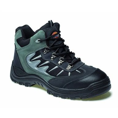 Dickies FA23385A Storm Super Safety Hiker Trainer has steel toecaps, and a fully shock-absorbent heel that resists the magnetic pull of static.