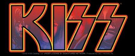 kiss logo sticker: kiss logo sticker