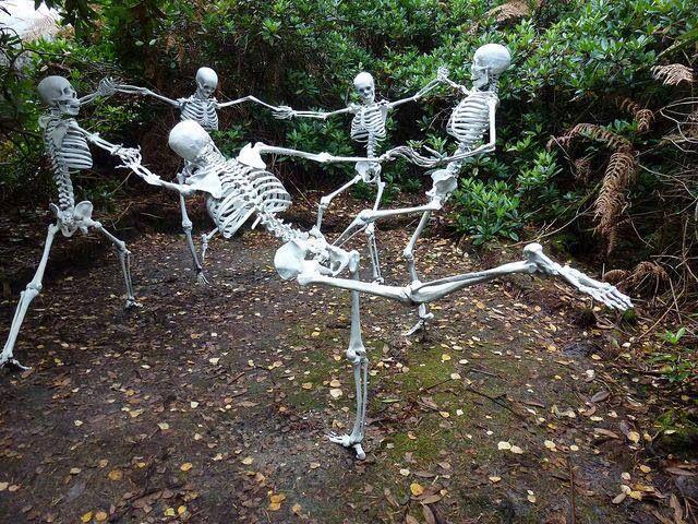 sculpture park skeletons dance of death