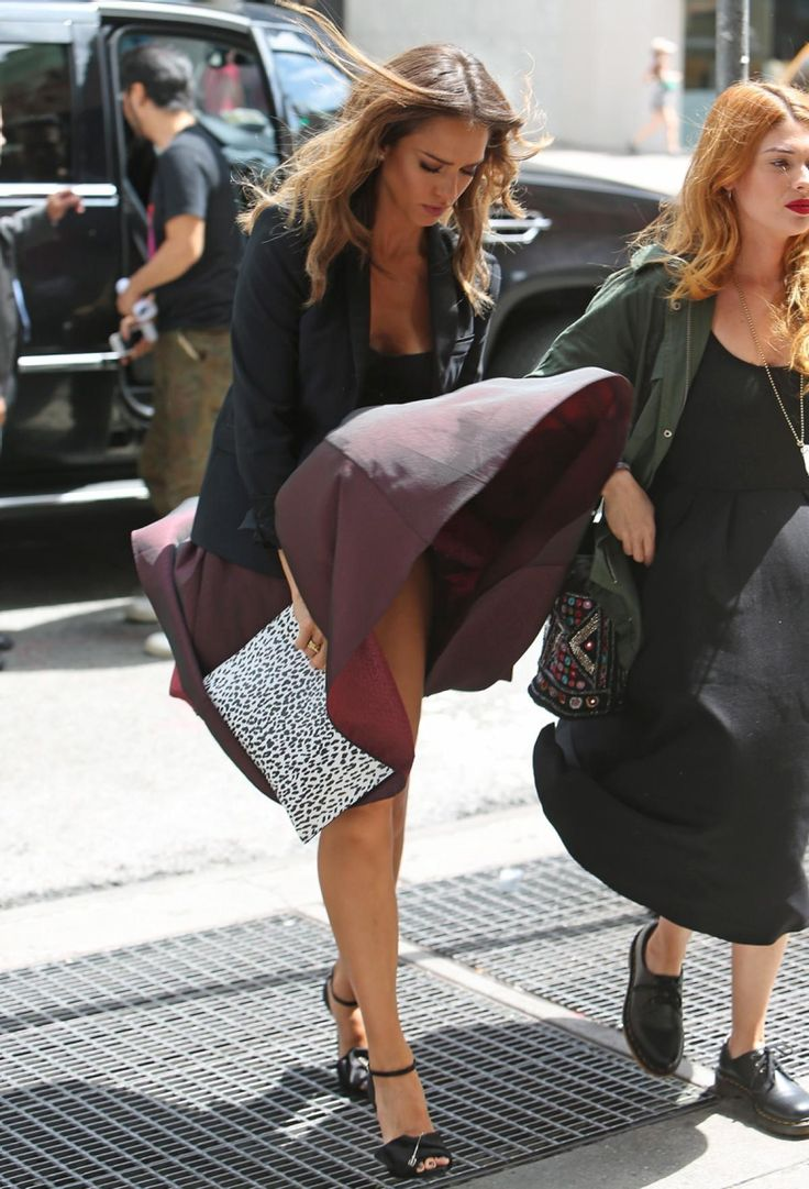 Jessica Alba Has A Wardrobe Malfunction In New York City