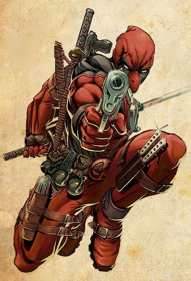Deadpool - The merc with a mouth.  Wish I knew the artist... :o(