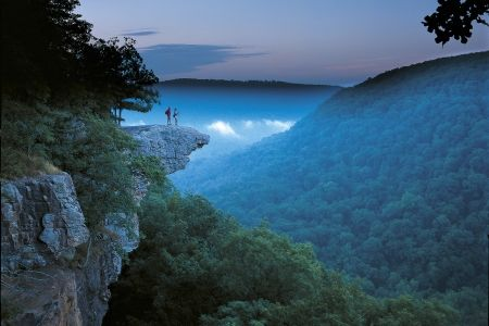 Whitaker Point in the Arkansas Ozarks Mountains. The location is southwest of Ponca and difficult to find, but a treasure to behold at sunrise or sunset.  Submitted by Arkansas Tourism