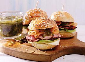 Hamburgers miniatures au porc et à la Mozzarella fraîche recette | Plaisirs laitiers