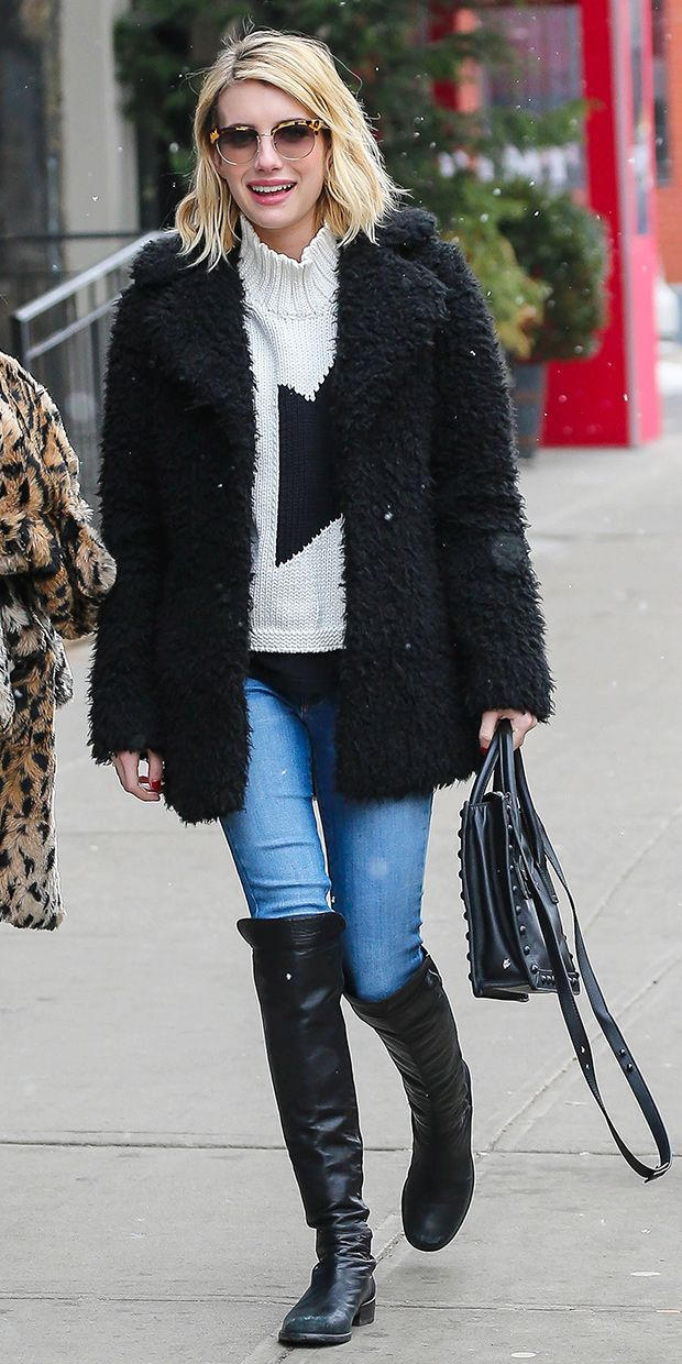 Cool and Cozy: Emma Roberts Braves the NYC Snow in Winter Must-Haves via @WhoWhatWear