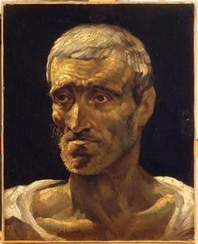 Head of a Shipwrecked Man (study for the Raft of Medusa) - Theodore Gericault