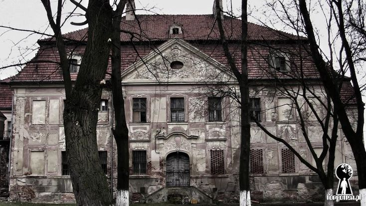 Old palace in Zukowice, Lower Silesia, Poland.