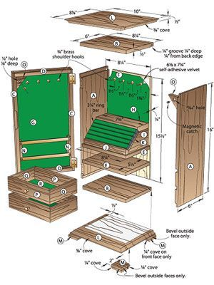 wood jewelry box plans free | Gem of a Jewelry Chest Woodworking Plan