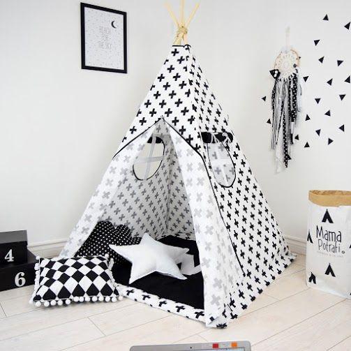 Namiot teepee w czerni i bieli? Uwielbiamy😍