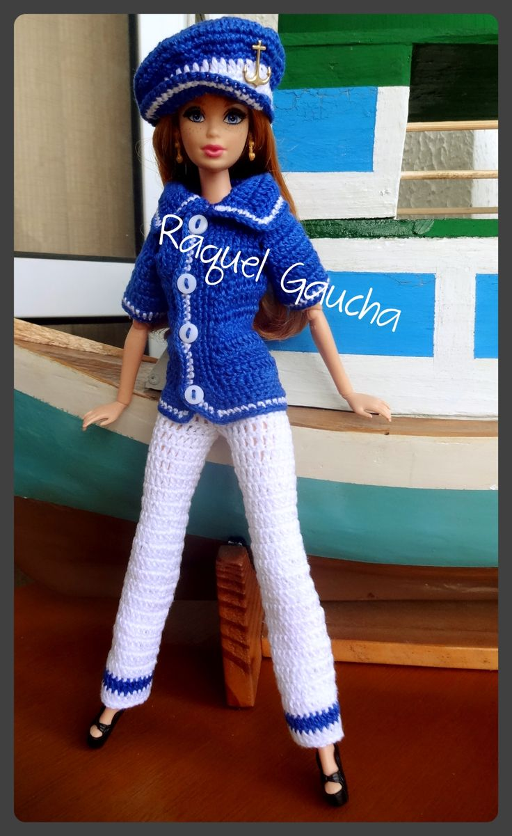 #Grega #Midge #Barbie #Muñeca #Doll #Cléa5 #Marinheira #Crochet #RaquelGaucha