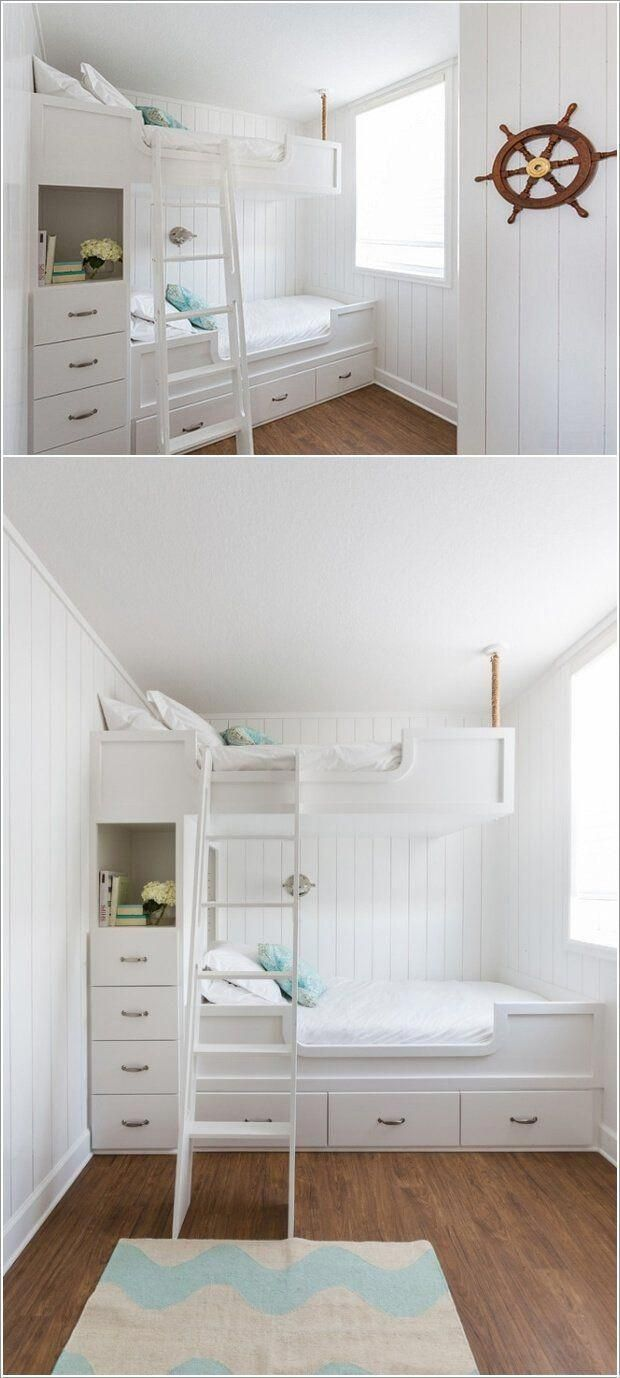 For Accommodating Two Kids In One Room Build A Storage Bed And Top