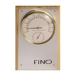 One Dial Sauna Thermometer Hygrometer Vertical In Stainless Steel, 2015 Amazon Top Rated Sauna Accessories #Lawn&Patio