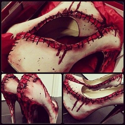 I want these shoes. they look like they were handmade by leatherface.