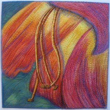 Patty VanHuis-Cox of Morton Grove, IL - Quilting Daily - doesnt' this remind you of Georgia O'Keefe??