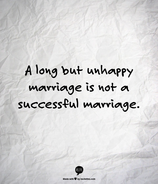 Unhappy marriage - Term paper Example - August 2019