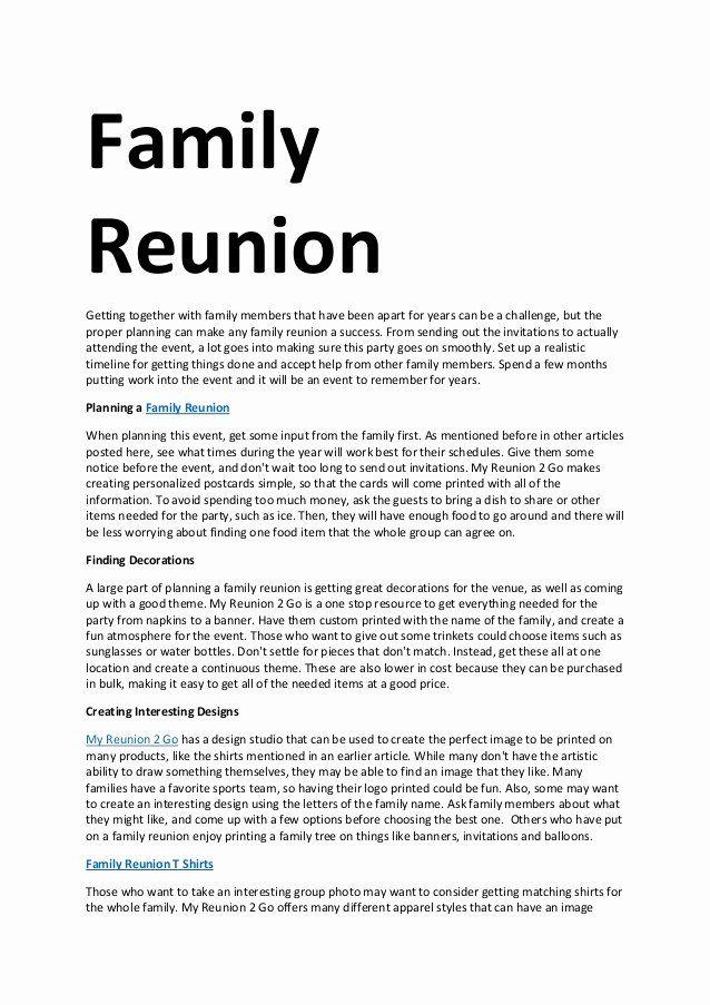 Family Get Together Invitation Letter Best Of Family Reunion Family Reunion Invitations Reunion Invitations Family Reunion