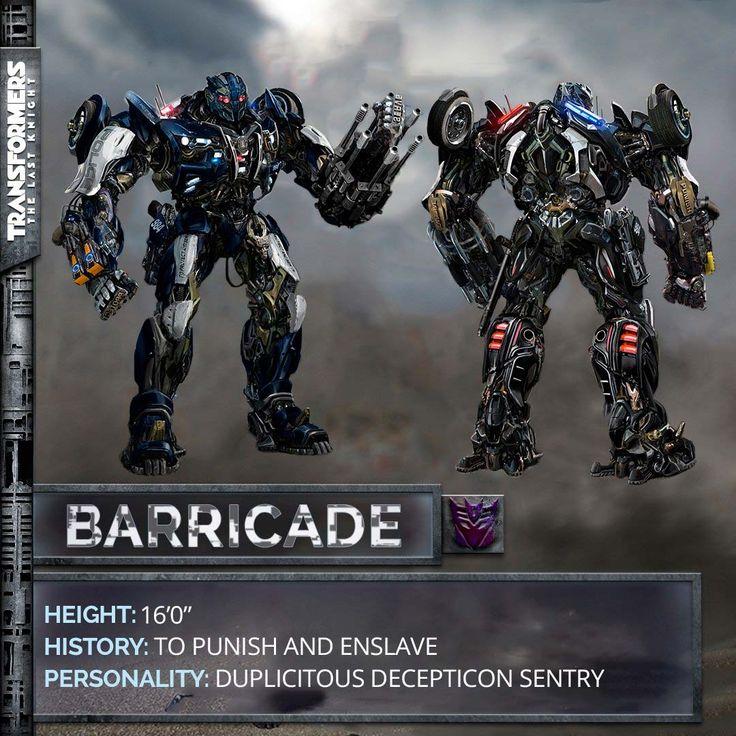 Imagen de Barricade para la película Transformers 5