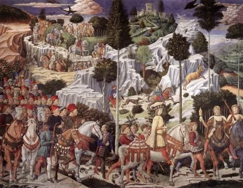 Benozzo Gozzoli    Cappella dei Magi, Palazzo Medici-Riccardi, Florence    1459-1462