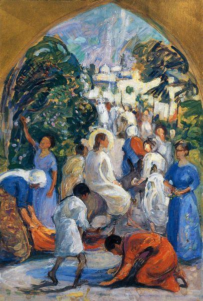 Jeesuksen Tulo Jerusalemiin (1913) PEKKA HALONEN