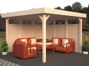Nice Bausatz aus nordischem Fichtenholz unbehandelt Palmako Holz Pavillon Lucy cm x cm x cm Gartenlauben u Holz Pavillons bei OBI kaufen