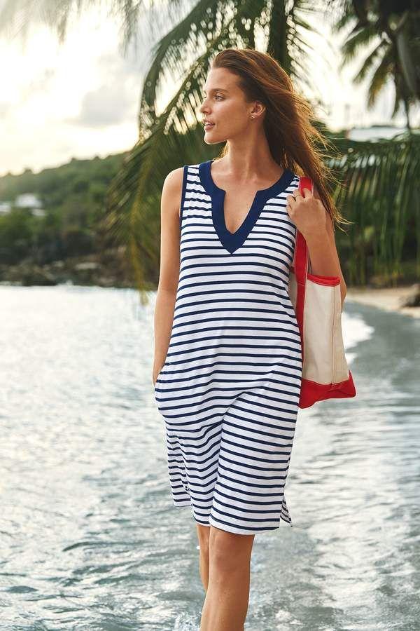 747898862f Lands' End Lands'end Women's Petite Cotton Jersey Tunic Dress Cover-up  #Petite#Cotton#Lands