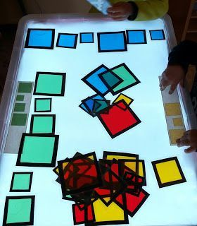 Great light and shadow play based learning ideas.