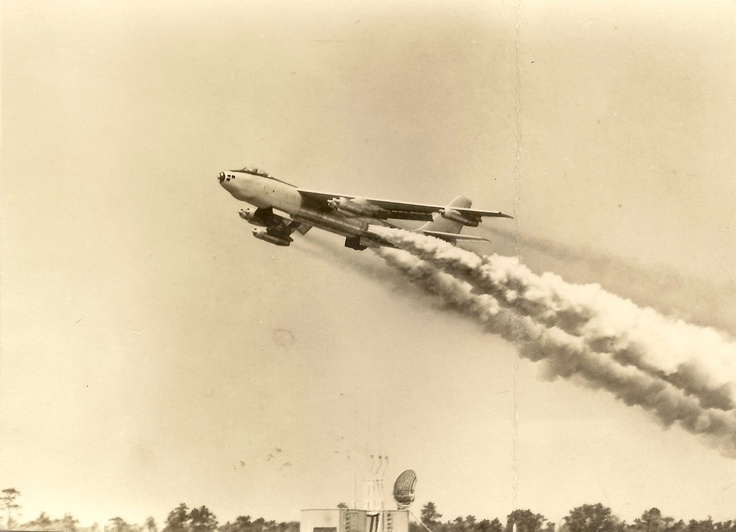 B-47 with rocket assisted takeoffStratojet B47