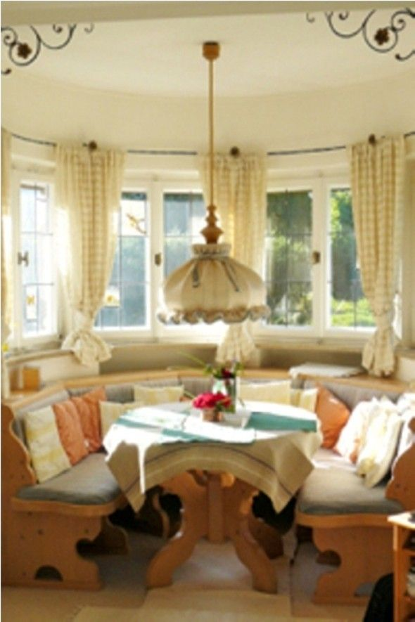Cottage Style Dining Room Part - 29: Cottage Style Dining Room With Floral And Check Motif